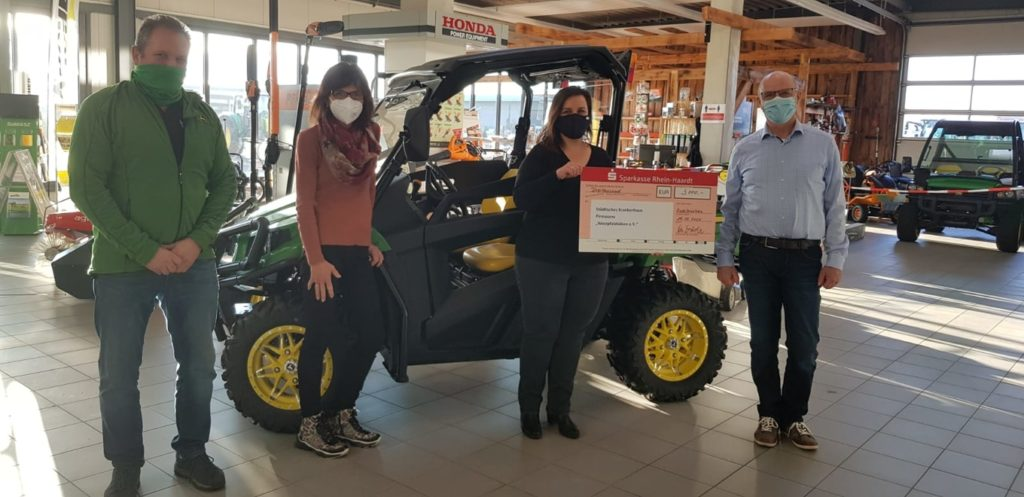 Spendenübergabe Fischer Landmaschinen Zweibrücken